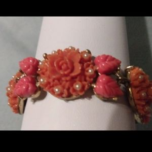 1930s Japan celluloid Victorian revival bracelet
